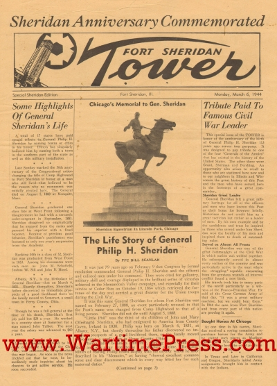 Fort Sheridan Tower 1944 03 06 Special Edition Pdf Wartime Press